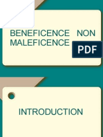 Beneficence Non Maleficence
