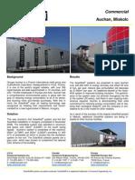 Solarwall Case Study - Auchan - solar air heating system