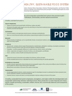 Healthy Sustainable Food Systems Principles