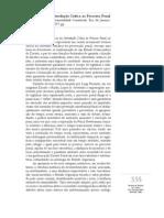 critica Introdução Crítica ao Processo Penal Fundamentos da Instrumentalidade Constitucional-