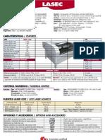 Especificaciones técnicas del láser para grabado y corte Mécanuméric LASEC