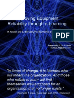 Improving Equipment Reliability Through E-learning