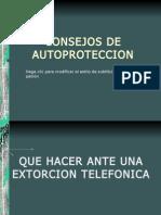 CONSEJOS DE AUTOPROTECCION