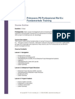 Primavera P6 Professional Fundamentals Course Outline