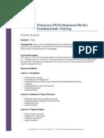 Primavera P6 Professional Fundamentals Course Outline