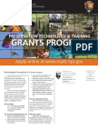 NCPTT Call for Grant Proposals Information