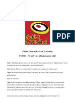 Pukka German podcast transcript 1