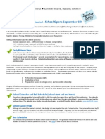 Back to School Information for Parents 2011-2012
