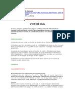 40520 Expose Oral Conseils