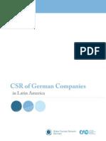 2010 CSR Deutscher Unternehmen in Lateinamerika
