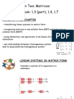 Matrices - Ch. 1.3 (Part), 1.4, 1.7
