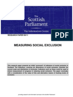 Measuring Social Exclusion
