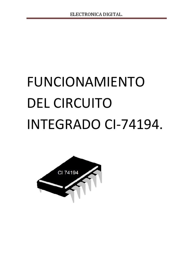 funcionamiento del circuito integrado ci