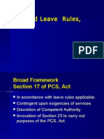 Revised Leave Rules, 1981