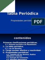 Tabla Periódica y propiedades