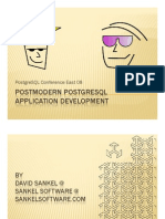 Postmodern PostgreSQL Application Development