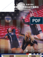 2011 Lady Rebels Volleyball Sports Guide