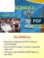 The Frbm Act