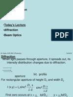 Lect 4 Beam Optics 9-1-2011