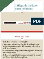 National Hispanic Institute Summer Programs