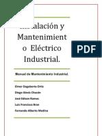 Manual de Instalaciýýn y Mantenimiento  Elýýctrico Industrial