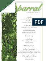 Bulletin for August 7, 2011