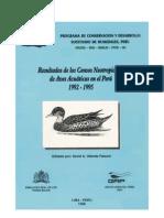 CensosNeotropicalesAvesAcuaticasPeru 1992-1995