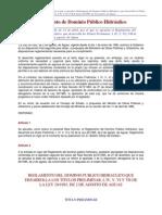 reglamento del dominio público hidráulico 250-254