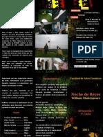 PROGRAMA DE MANO - NOCHE DE REYES