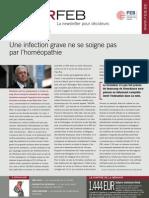 Une infection grave ne se soigne pas par l'homéopathie, Infor FEB 25, 1 september 2011