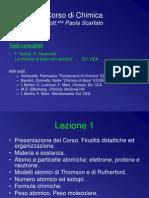 Lezione 1 - Materia, Atomi e Formule. Modelli Atomici
