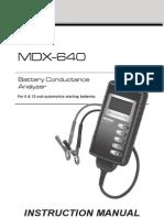 167-033A MDX-640 Instruction Manual Midtronics En