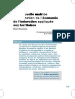 Innovation Et Territoires Texte Grand Prix