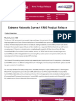 Tech Bulletin Extreme Networks X460 EXT024