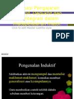 Aplikasi Pengajaran Induktif, Deduktif Dan Berintegrasi Dalam