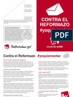 Contra la Reforma Constitucional, Referéndum Ya!!