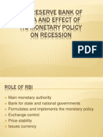 FA (RBI and Its Monetary Policy)