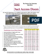 DuraSystems - Grease Duct Access Doors Brochure