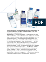 Bottled Water Comes From Two Sources