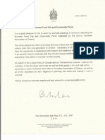 Letter to BCAO From Liberal Leader-Burmese