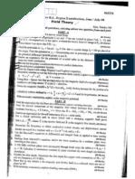 Field Theory July 08