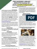 Goodwin Library September 2011 Newsletter