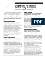 Developing Metrics for Effective Security Governance