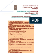 LAMPEA-Doc 2011 – numéro 29 / Vendredi 2 septembre 2011