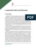 Pragmatism, Ethics and Education