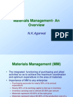 Materials Mgmnt.