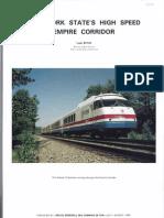 HSR Improvements Empire Corridor 1985 Louis Rossi