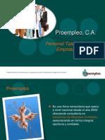 Presentación Proempleo 2011