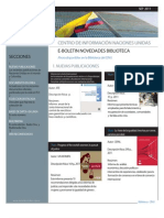 Boletín Novedades Bibliográficas Cinu Bogotá Septiembre 2011