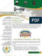 City Of Griffin September Newsletter REVISED